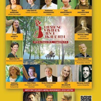 Birštono vasaros menų akademija 2018 kviečia
