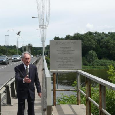 Karolis Rimtautas Kašponis 2010-07-02 Prienuose prie Greimų tilto
