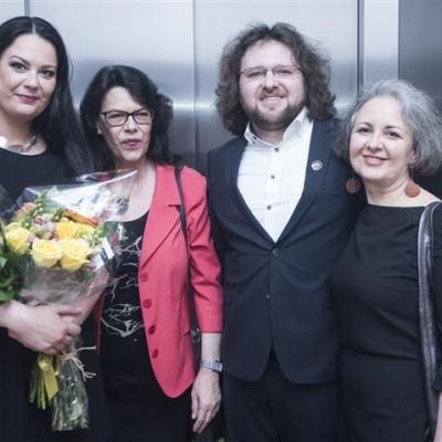 2018-05-05 photo D. Matvejev Indrė Baikštytė su mama Dalia Balsyte ir Gintaras Januševičius su mama Neilia Galiamova