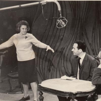 V. Krakauskaitė, I. Mikšytė, J. Finkelšteinas ir P. van Hauwe televizijoje