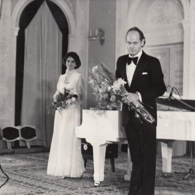 Kūrybos vakaras Menininkų rūmų baltojoje salėje 1984