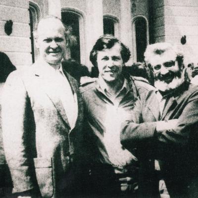 Trys bosai: V. Kuprys, V. Prudnikovas, V. Daunoras
