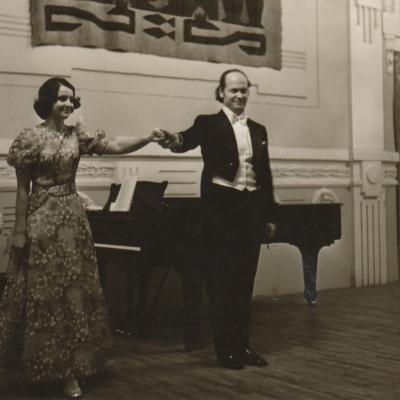 Pirmasis solinis koncertas su žmona Melita Lietuvos filharmonijoje 1976
