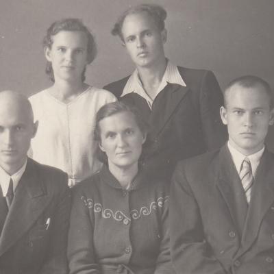 Kuprių šeima: Gediminas, mama Jadvyga, Vincentas, Elena, Vytautas
