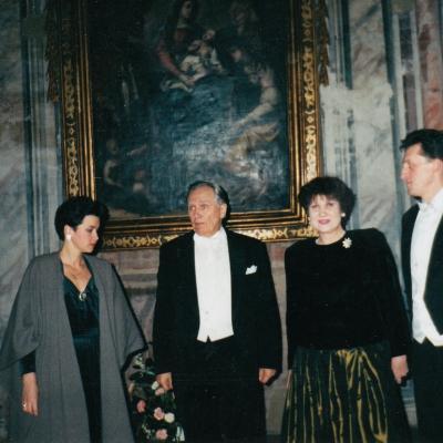 Po koncerto Turine. A. Zubaitė, S. Sondeckis, I. Misiūra