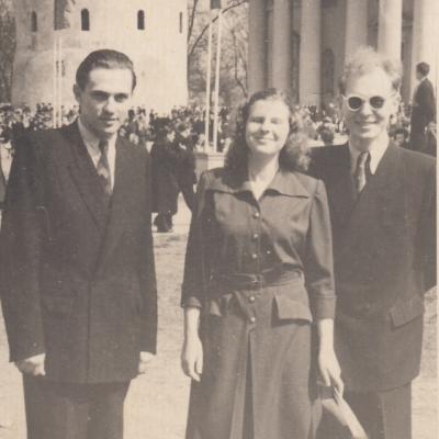 Su S. Sondeckiu ir E. Baltrimu 1950 m.