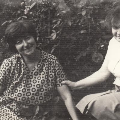 Su Vytauto Venckaus žmona Elenute apie 1970 m.