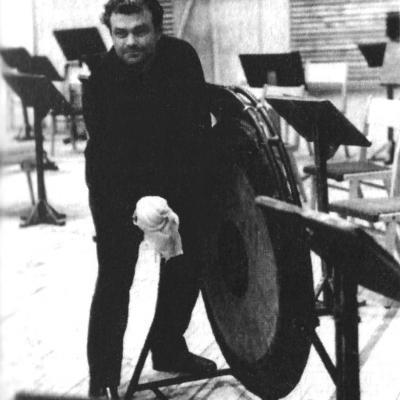 Eduardas Balsys Lietuvos valstybinio radijo studijoje baleto muzikos įrašų metu