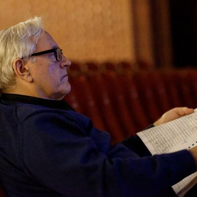 Davidas Geringas, pastatymo muzikos vadovas ir dirigentas. LNOBT M. Aleksa