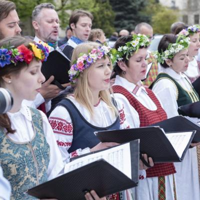 Choras Vilnius Rustaveli skvere