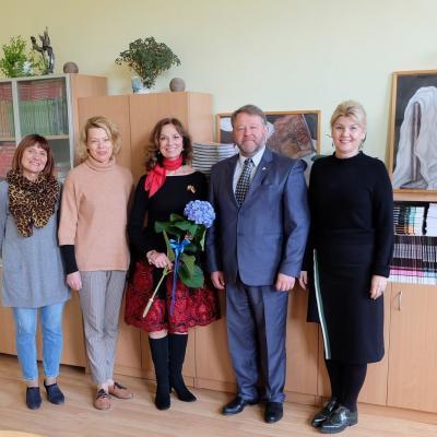 Virginija Kochanskytė lankėsi Biržų