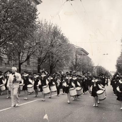 Mokyklos orkestras Lenino prospekte 1984 m.