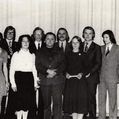 Po klasės koncerto 1975 m.