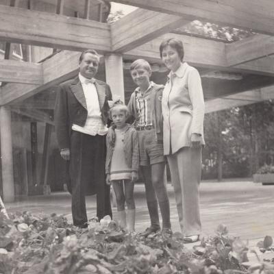 1973 m. šeima Palangoje