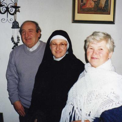 5.Su tėvais Pranu ir Regina Tamošaičiais Italijoje, Spelyje, 1994 lapkritis.