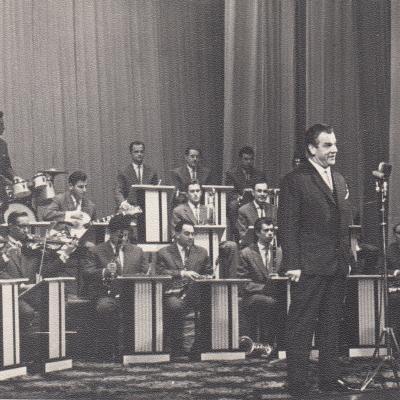 Romano Marijošiaus jubiliejinis koncertas, diriguoja Rimvydas Racevičius. 1964 m.