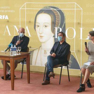Ana Bolena spaudos konferencija