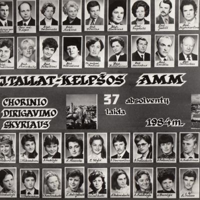 Tallat-Kelpšos AMM 37 laida. 1984 m.