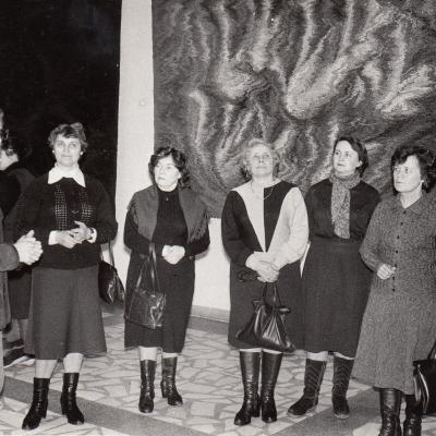 Jonučio kilimų parodoje 1986 m.