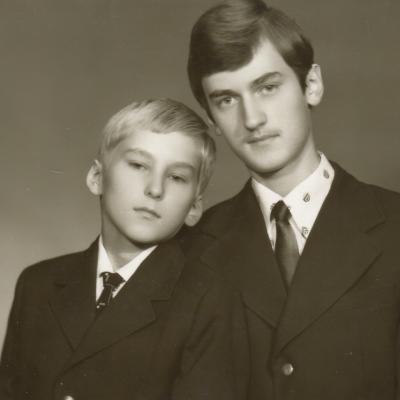 Romualdas ir Antanas Budriūnai 1980