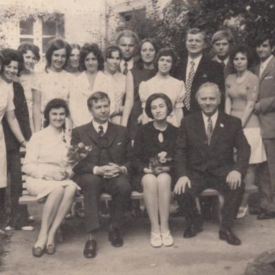 Su diplomantais 1972 m.