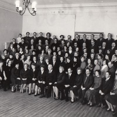 Tallat-Kelpšos AMM pedagogų kolektyvas, 1980 m.