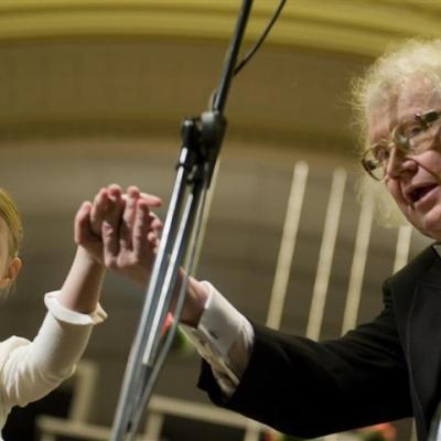 Diriguoja Juozas Domarkas, LNSO 70-mečio koncertas Lietuvos nacionalinėje filharmonijoje, 2010