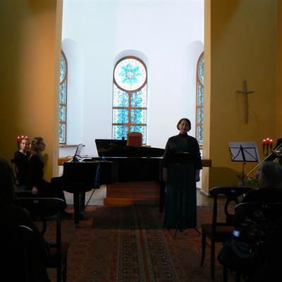 Plokštelės pristatymo koncertas Anykščių koplyčioje.