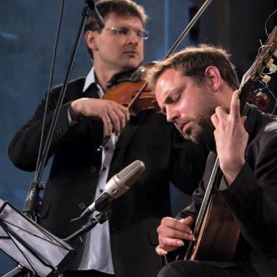 Povilas ir Anders Clemens Oien šv. Kotrynos bažnyčioje Vilniuje