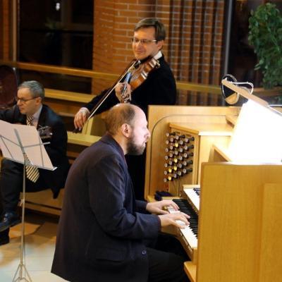Povilas, Petter Richter ir Vitalijus Neugasimovas Aukstaitijos vargonu festivalyje