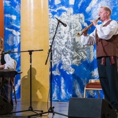 Aistė Bružaitė (kanklės) ir Egidijus Ališauskas (birbynė)