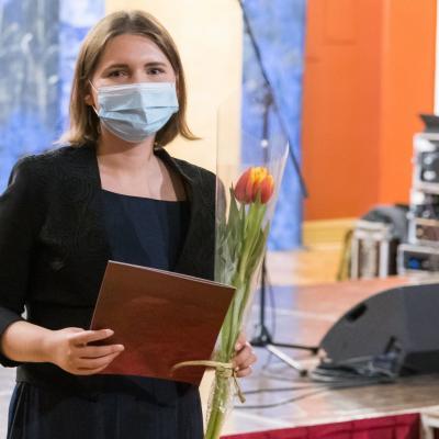 """Padėkos """"Muzikos barų"""" autoriams: jauniausiai autorei – Ievai Kananavičiūtei"""