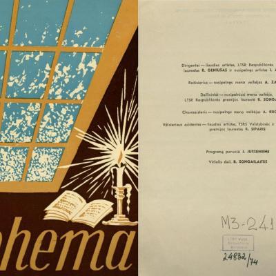 Bohema. Dž. Pučinio 4 veiksmų opera. 1972 m