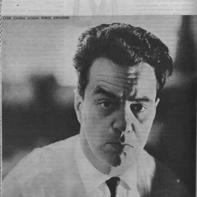 A. Kalinauskas. Prie dirigento pulto  Kultūros barai.- 1970, Nr. 9, p.18-20