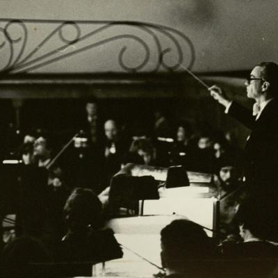 """P. Čaikovskio opera """"Eugenijus Oneginas""""  studentų spektaklis. 1983 m . Leningradas"""