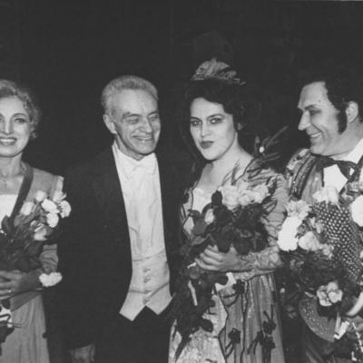 """Po G. Bizė operos """"Karmen"""" su soliste V. Mozūraityte"""