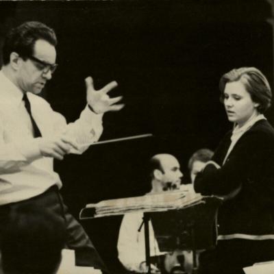 R. Geniušas ir Giedrė Kaukaitė. 1971 m