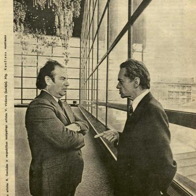 R. Geniušas ir V. Viržonis. Apie 1980 m