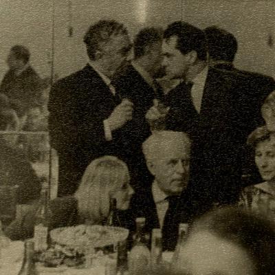 """R. Geniušas su A. Chačaturjanu po baleto """"Spartakas"""" premjeros. 1964 m"""