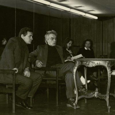 R. Geniušas su operos solistu Eduardu Kaniava