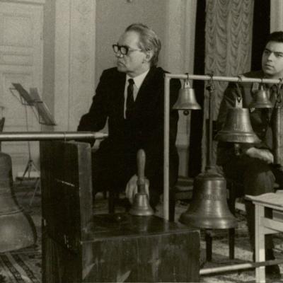 Vakaras Meno darbuotojų rūmuose 1987 m. Rimas ir Julius Geniušai