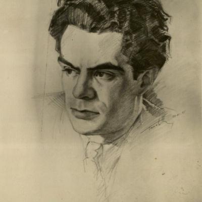 P. Tarabildos pieštas R. Geniušo portretas