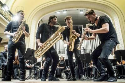 """Orkestro muzikos koncertas""""Amerikietiški ritmai ir keturi saksofonai"""""""