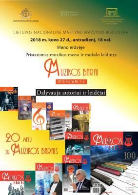 """20 metų su """"Muzikos barais"""": 2018 m. pirmasis numeris"""
