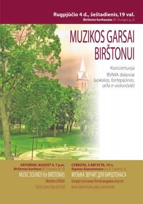 MUZIKOS GARSAI BIRŠTONUI