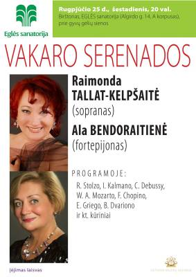 VAKARO SERENADOS Eglės sanatorijoje Birštone