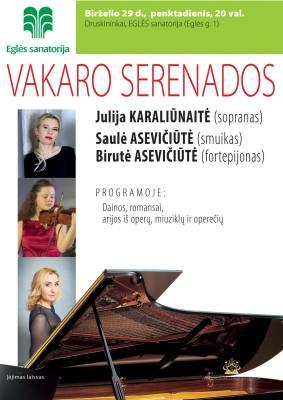 VAKARO SERENADOS. Julija Karaliūnaitė (sopranas)