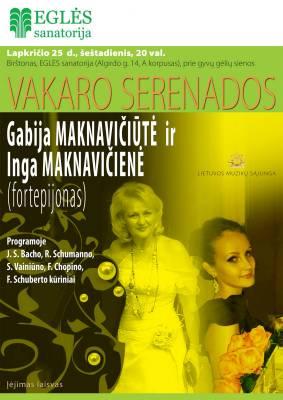 VAKARO SERENADOS. Gabija Maknavičiūtė ir Inga Maknavičienė