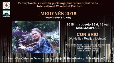 Festivalis MEDYNĖS 2018: Senosios muzikos projektas CON BRIO