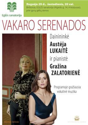 VAKARO SERENADOS. Austėja Lukaitė ir Gražina Zalatorienė
